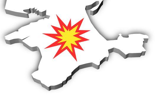Illustration Crimea explosion