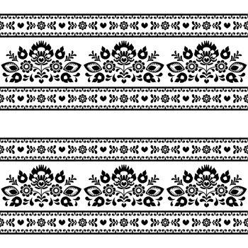Repetitive background - polish folk Wzory Lowickie art decoration elements