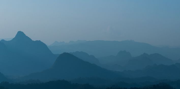Layer mountains