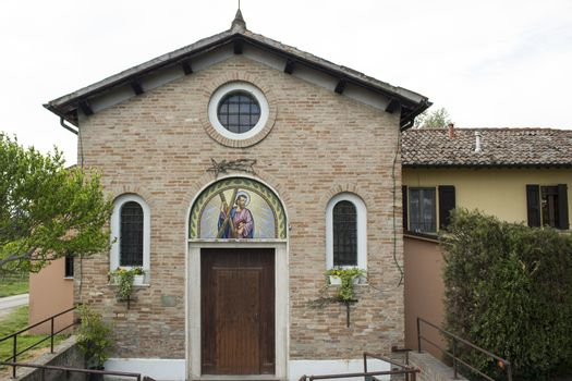 Catholic Church in Italian countryside near Zagonara (Ravenna)