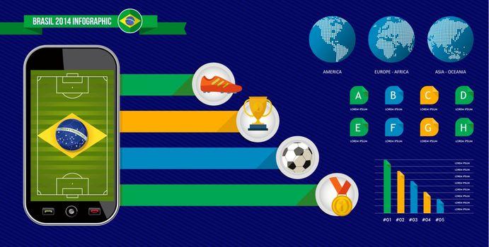 Brazil soccer championship phone infographic