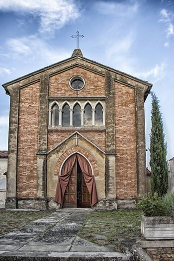 Italian Country Church: Saint Apollinare in Oriolo dei Fichi near Faenza