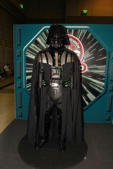 BANGKOK - MAY. 11: A Darth Vader model in Thailand Comic Con 2014 on May 11, 2014 at Siam Paragon, Bangkok, Thailand.