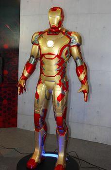 BANGKOK - MAY. 11: An Iron Man model in Thailand Comic Con 2014 on May 11, 2014 at Siam Paragon, Bangkok, Thailand.