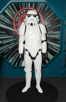 BANGKOK - MAY. 11: A Storm Trooper model in Thailand Comic Con 2014 on May 11, 2014 at Siam Paragon, Bangkok, Thailand.
