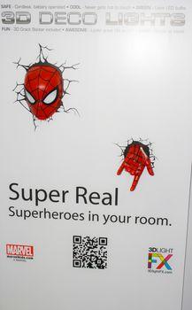 BANGKOK - MAY. 11: A Spiderman model in Thailand Comic Con 2014 on May 11, 2014 at Siam Paragon, Bangkok, Thailand.