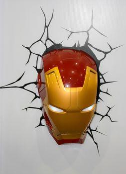 BANGKOK - MAY. 11: An Iron Man Mask model in Thailand Comic Con 2014 on May 11, 2014 at Siam Paragon, Bangkok, Thailand.