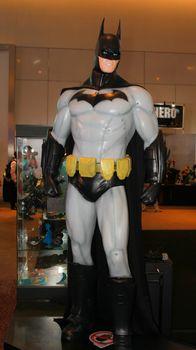 BANGKOK - MAY. 11: A Batman model in Thailand Comic Con 2014 on May 11, 2014 at Siam Paragon, Bangkok, Thailand.