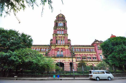 Old colonial palace, Yangon, Myanmar