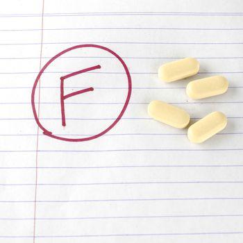 grade f with drug