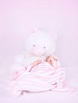 Cute little newborn girl