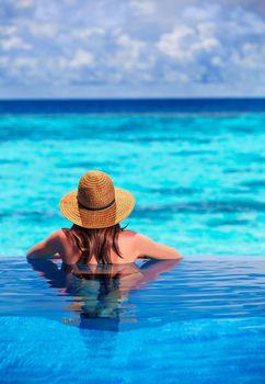 Relaxation on beach resort