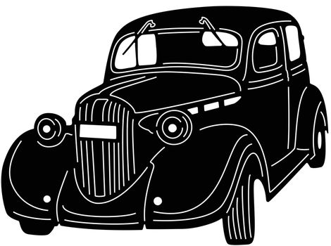 Old Car Silhouette