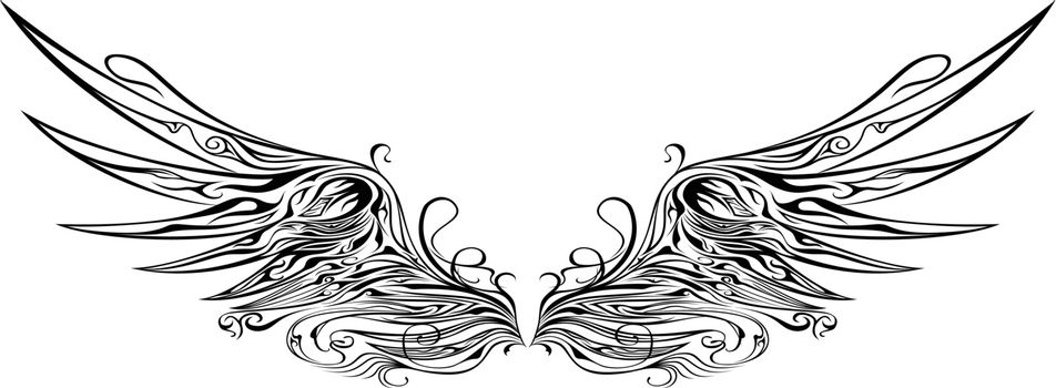 Ornaments Wing Silhouette