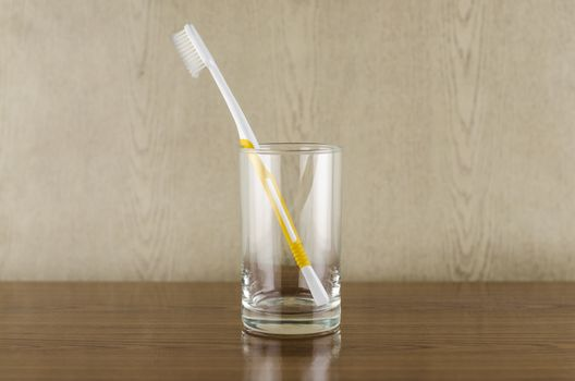 toothbrush in glass