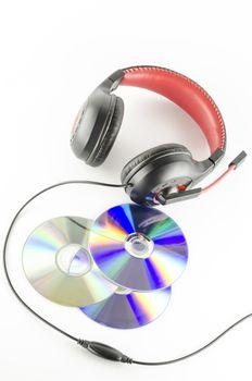 headphone and cd
