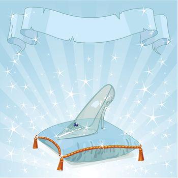 Crystal slipper background