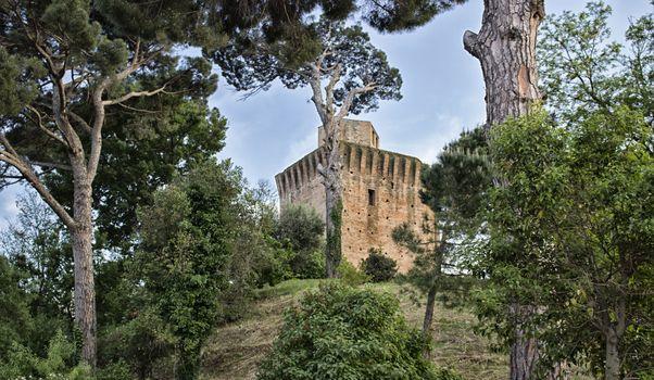 Tower in Oriolo dei Fichi near Faenza in Italy