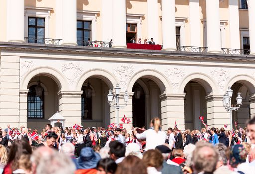 17 may oslo norway on front of royal palace