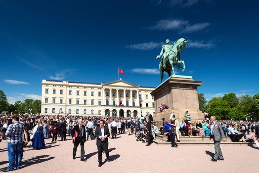 17 may oslo norway celebration on front Slottsparken