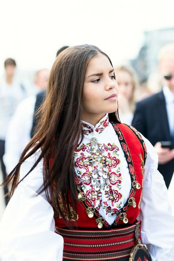 17 may oslo norway girl on parade in dress