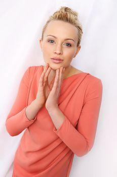 Portrait of delicate blonde