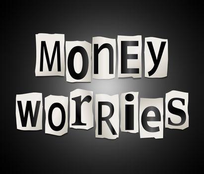 Money worries concept.