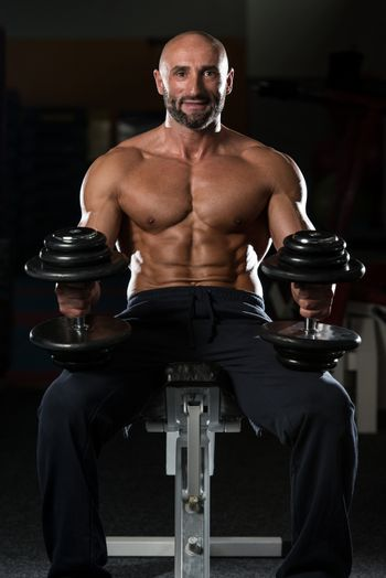 Portrait Of A Physically Fit Mature Man In A Healthy Club