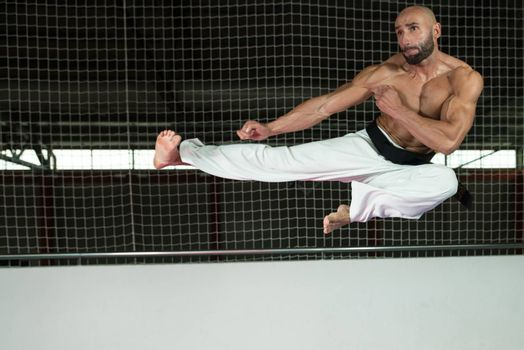 Taekwondo Fighter Expert With Fight Stance
