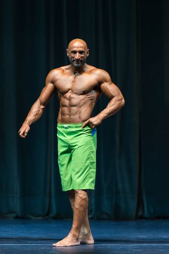 Bodybuilder On A competition For The Win - Front Poses