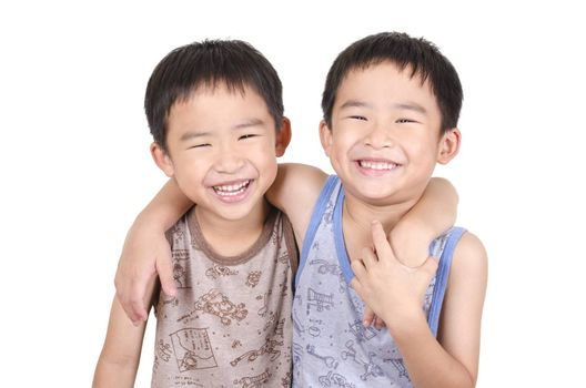 Cute twins smiling