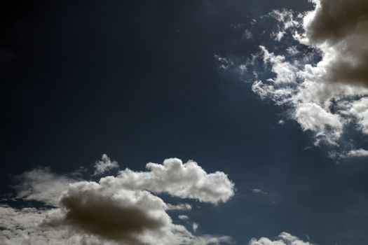 Blue sky with white clouds series 02