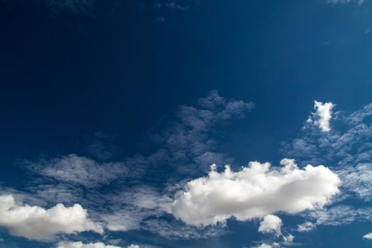 Blue sky with white clouds series 03