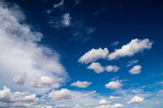 Blue sky with white clouds series 04