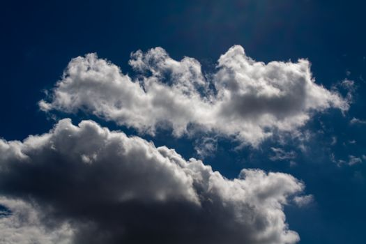 Blue sky with white clouds series 05