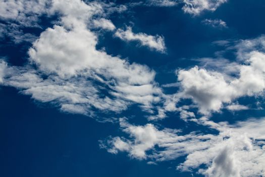 Blue sky with white clouds series 07