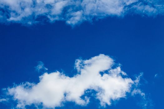 Blue sky with white clouds series 08