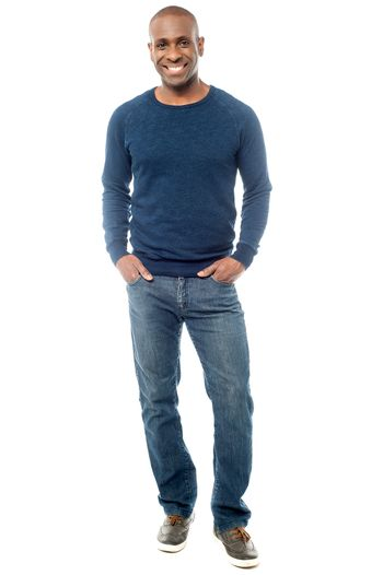 Full length portrait of a casual man
