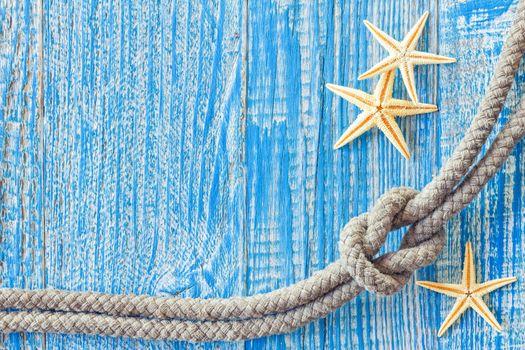 Rope and sea shells