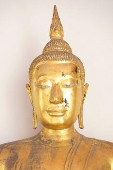 Golden Buddha awaiting restoration
