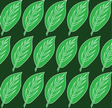 Green leaf pattern. Vector seamless patterns can be used for wallpaper pattern fills and background.