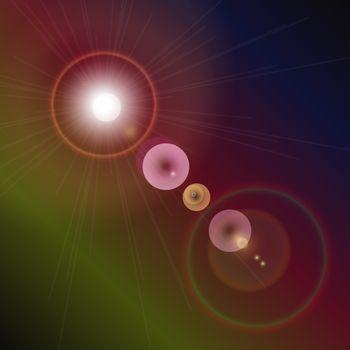 Light flare special effect. vector illustration, stock vector
