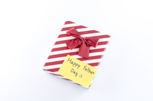 gift box with card write happy father day word