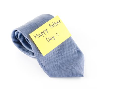 tie with card tag write happy father day word