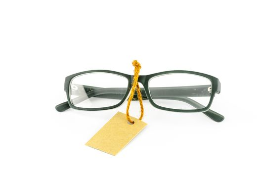 glasses and cost tag