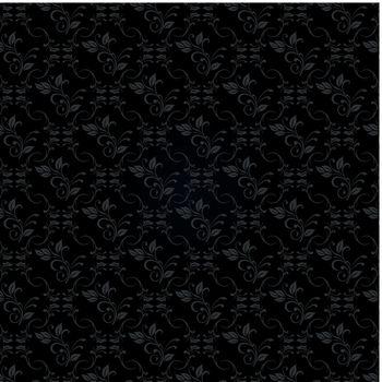 Vector illustration of black floral background concept