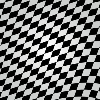 Vector illustration of white and black checkerboard background concept