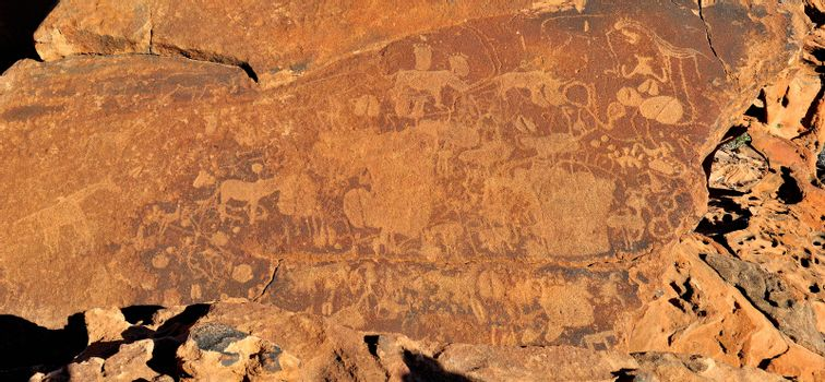 Rock engravings at Twyfelfontein, Namibia, a World Heritage site