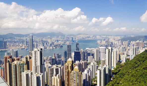Hong Kong skylines daytime