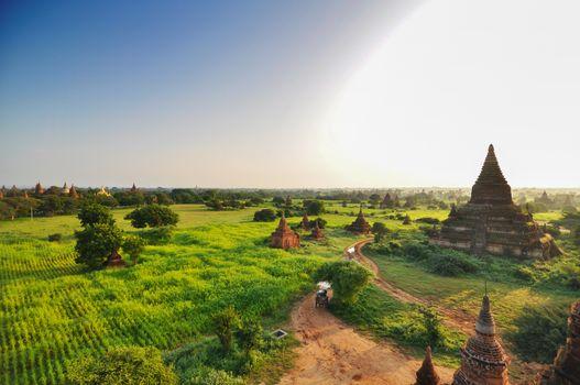 Sunrise at Ancient Temples, Bagan, Myanmar